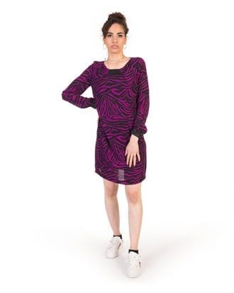 Amelia Petite Purple Tiger Print Tunic Dress