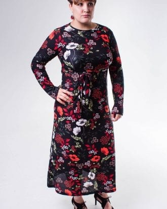 Adriana Red Floral Print Bodycon Lycra Dress