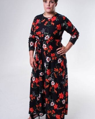 Carli Multicolour Floral Lycra Maxi Dress