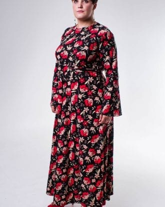 Avae Floral Print Plus Size Bodycon Dress