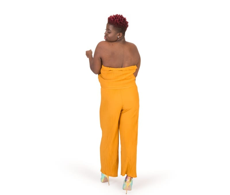 Valerie Yellow Tube Top Strapless Jumpsuit