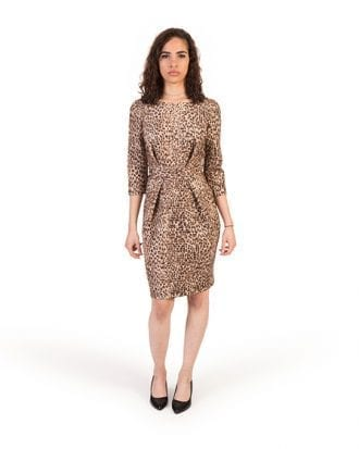 Autumn Leopard Print Shift Lycra Dress