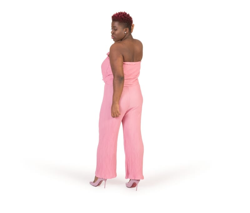 Valerie Pink Tube Top Strapless Jumpsuit