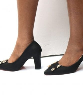 Tamie Mid Heel Pointy Court Shoes
