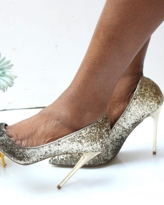 glitter look stiletto