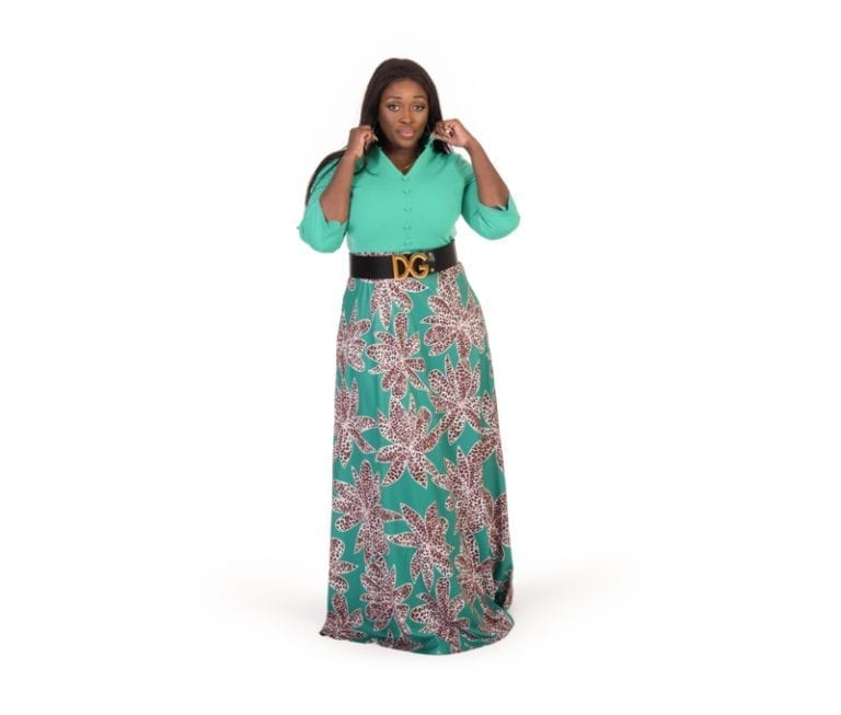 Alice Green Leopard Print Maxi Flowing Dress
