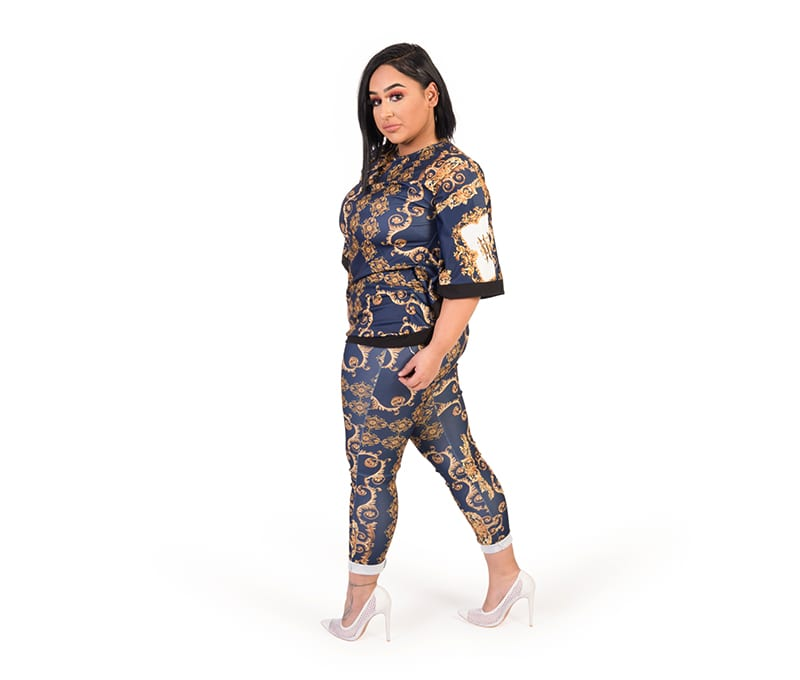 Lauren Blue Multicolour Glamaker Paisley Trouser Set