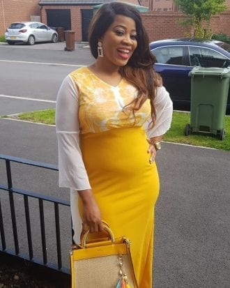 Edith Yellow Contrast Colour Maxi Dress