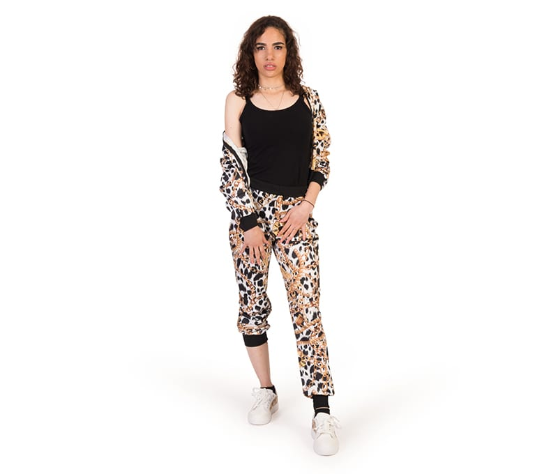 Aspen Leopard Print Sweatshirt and Joggers Set