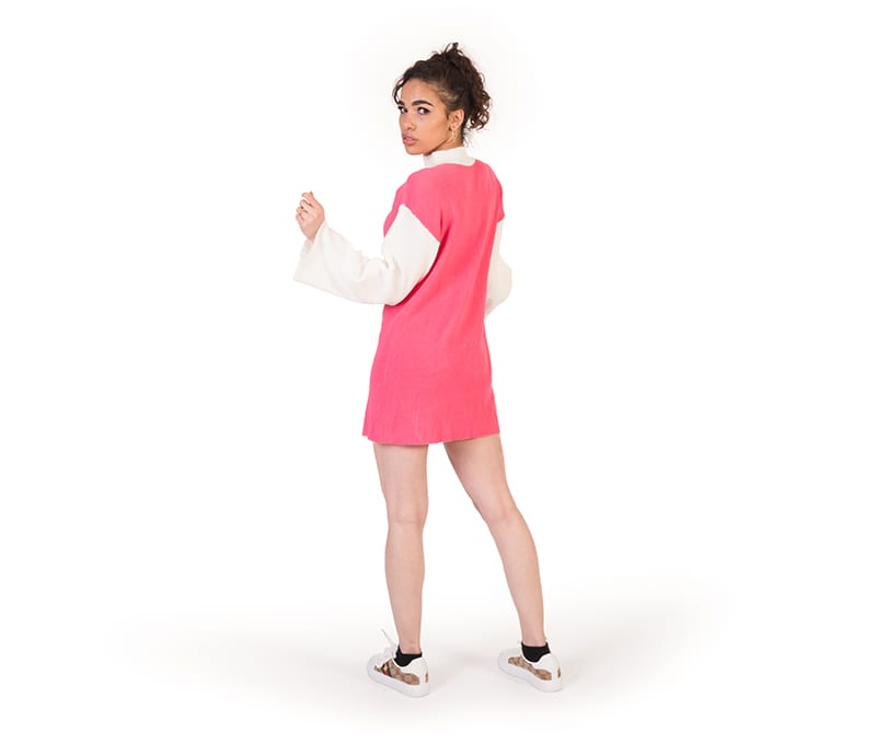 Myla Pink Colour Block Knitted Tunic