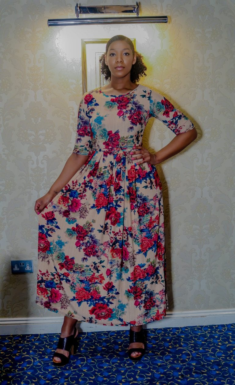Jaylene Multicoloured Floral Print Maxi Dress
