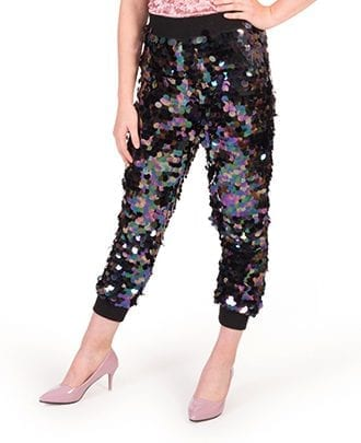 Black Sequin Midnight Dip Trouser